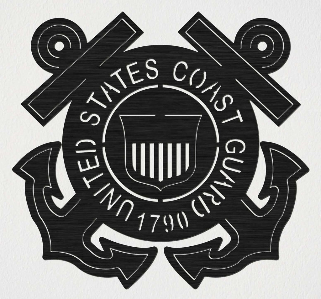 United State Coast Guard Badge-DXFforCNC.com-DXF Files cut ready cnc machines