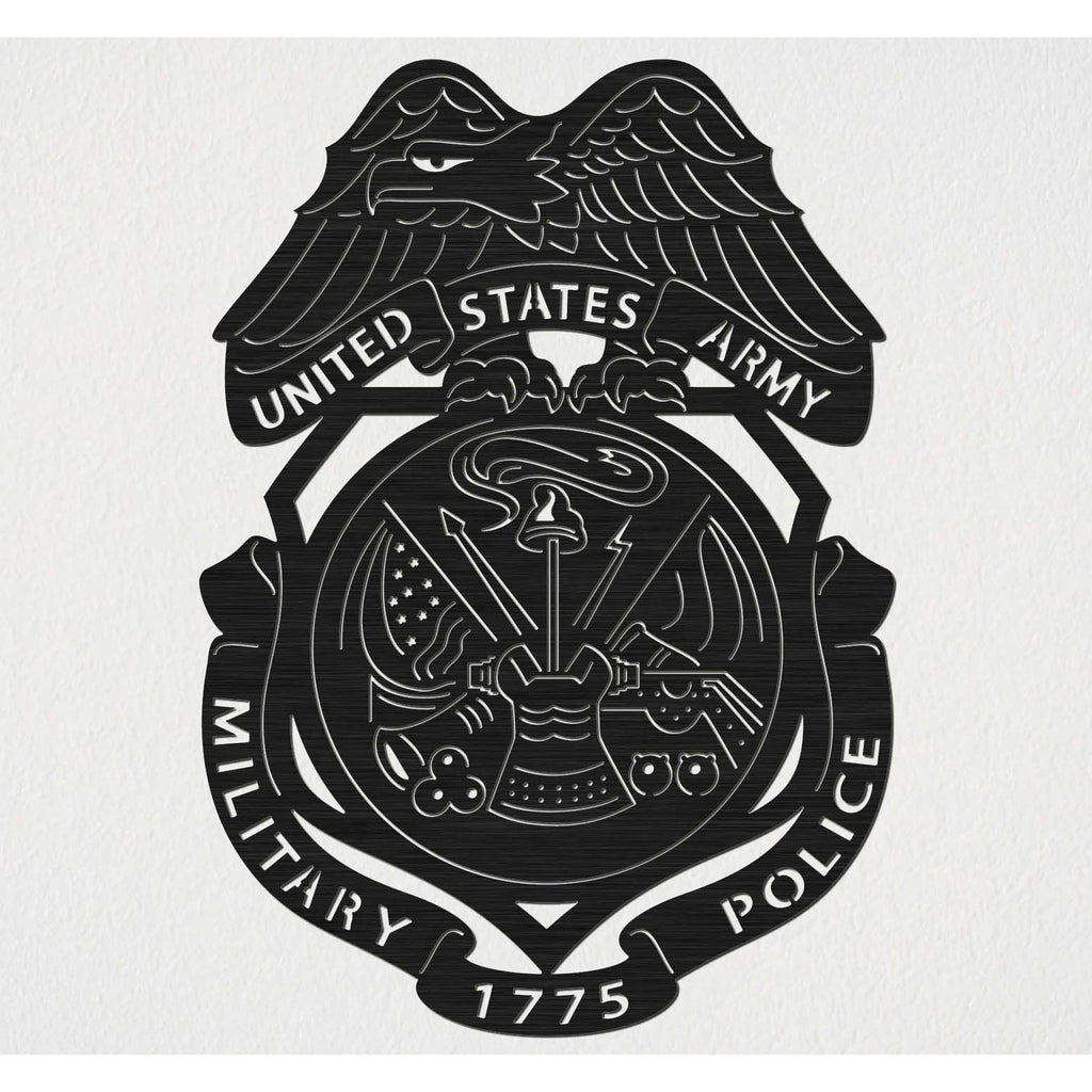United States Army Military and Police Corps with Eagle Badge-DXFforCNC.com-DXF Files cut ready cnc machines