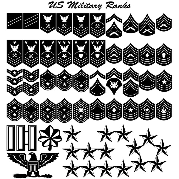 Us Military Ranks For Army Navy Dxf Files Cut Ready Cnc
