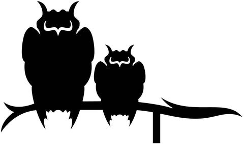 Weather Vane Owls-dxf file cut ready for cnc machines-dxfforcnc.com