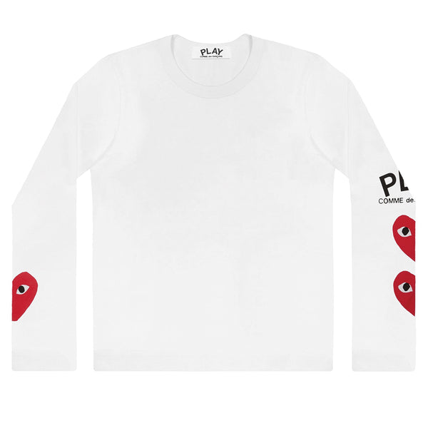 3 Heart Longsleeve White