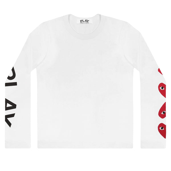 4 Heart Longsleeve White