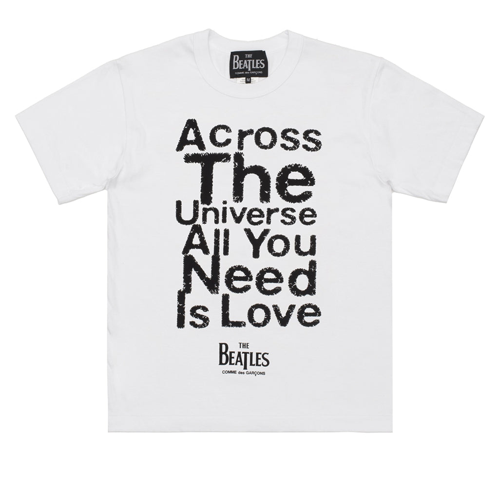 COMME des GARCONS x The Beatles All You Need Is Love T-Shirt White