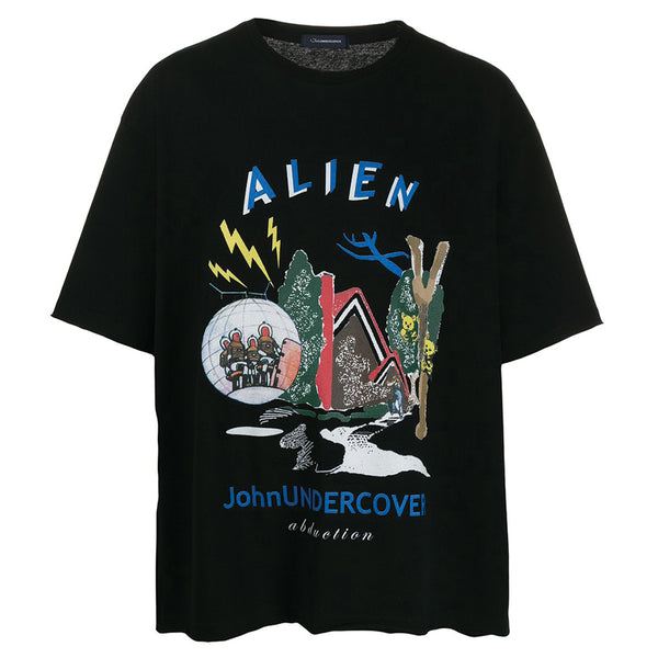 JohnUNDERCOVER Alien Graphic T-Shirt Black