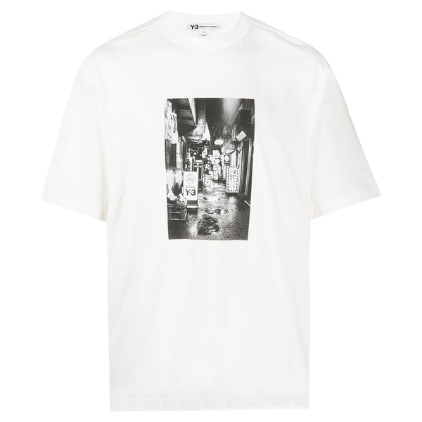adidas Y-3 Yohji Yamamoto Alley Print T-Shirt in White for Men