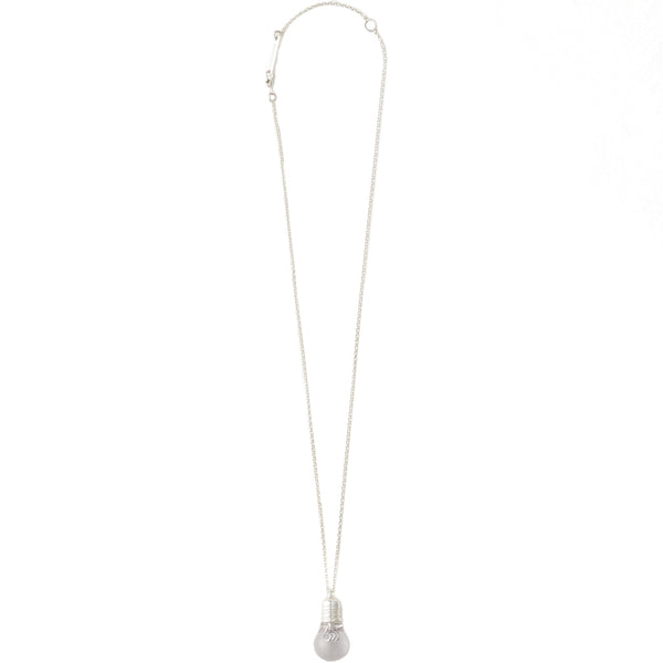 Ambush Jewellery Light Bulb Charm Necklace Silver