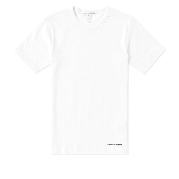 COMME des GARCONS SHIRT Front Logo Printed T-Shirt White W25117-C