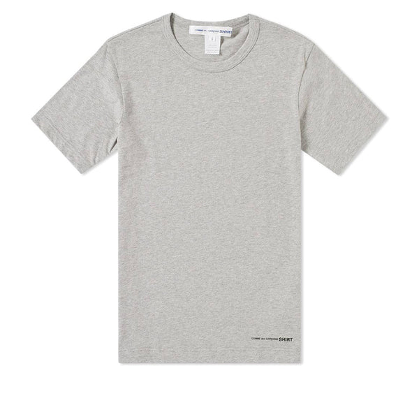 COMME des GARCONS SHIRT Front Logo Printed T-Shirt Top Grey W25117-B