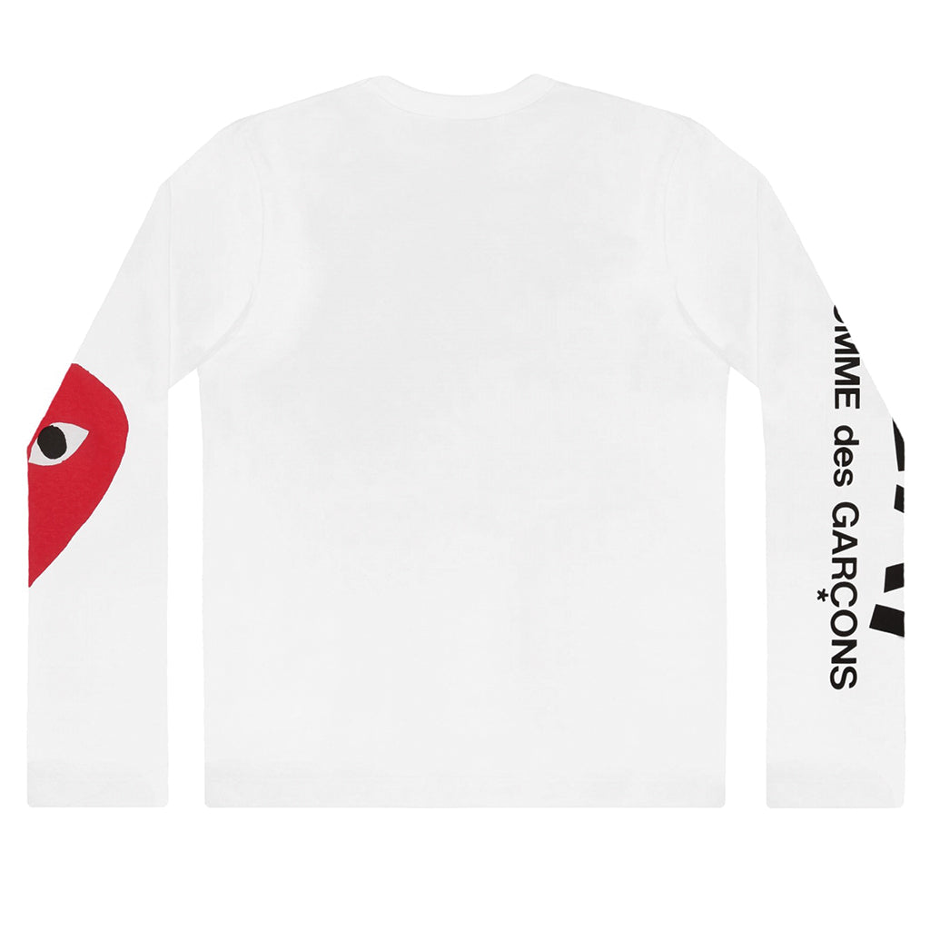 COMME des GARCONS PLAY Big Heart Longsleeve White