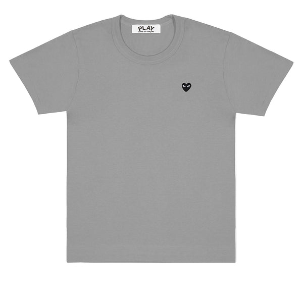 COMME des GARÇONS PLAY Colour Series Black Heart T-Shirt Grey
