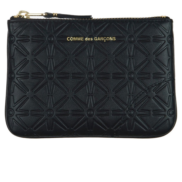 COMME des GARCONS WALLETS Classic Embossed Black