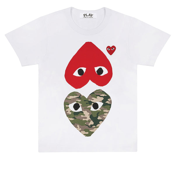 Red / Camouflage Heart T-Shirt