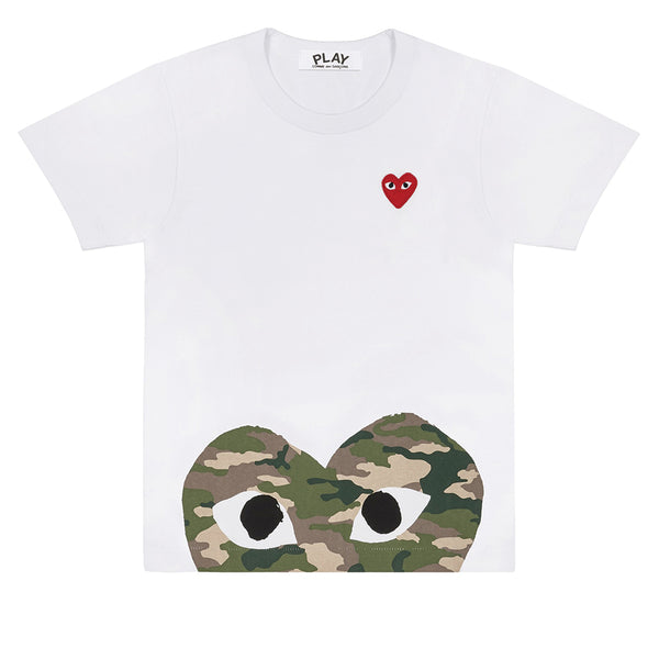 COMME des GARCONS PLAY Camouflage Low Heart T-Shirt