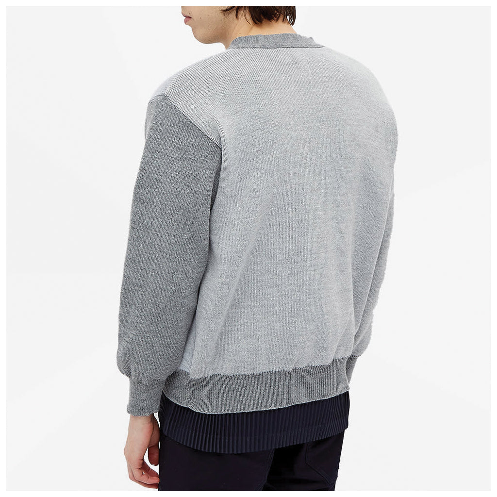 COMME des GARCONS SHIRT Knitted Cardigan Grey FG-N009-051