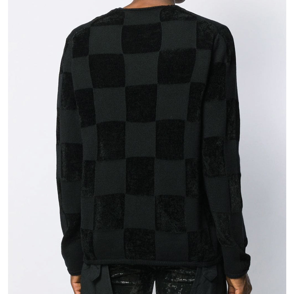 COMME des GARCONS Homme Plus Checkered Pattern Knit Black PD-N015-051