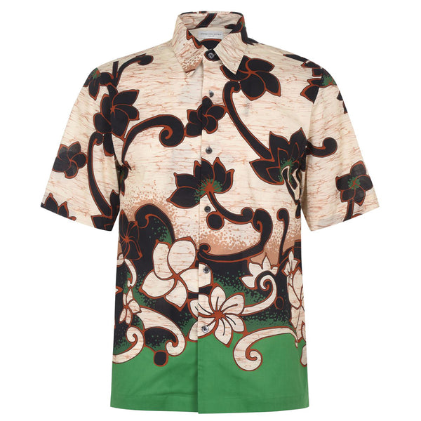 Dries van Noten Clasen Flower Print Shirt Green