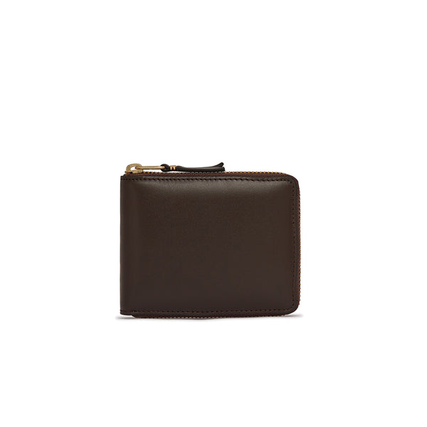 COMME des GARCONS Wallets Classic Full Zip Wallet Brown