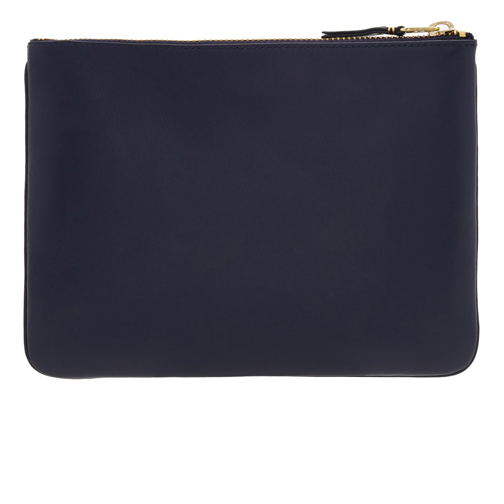 COMME des GARCONS WALLETS Classic Leather Line Navy SA5100