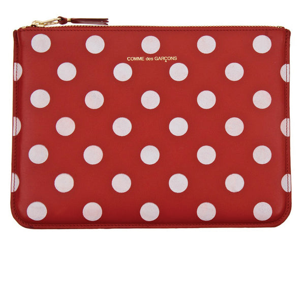 COMME des GARCONS Wallets Dots Printed Red - SA5100PD