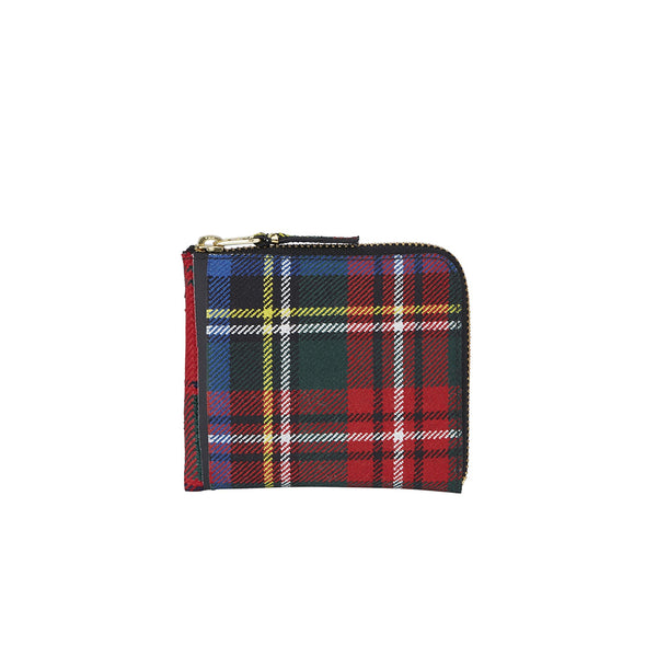 COMME des GARCONS Wallets Classic Tartan Patchwork Red Wallet