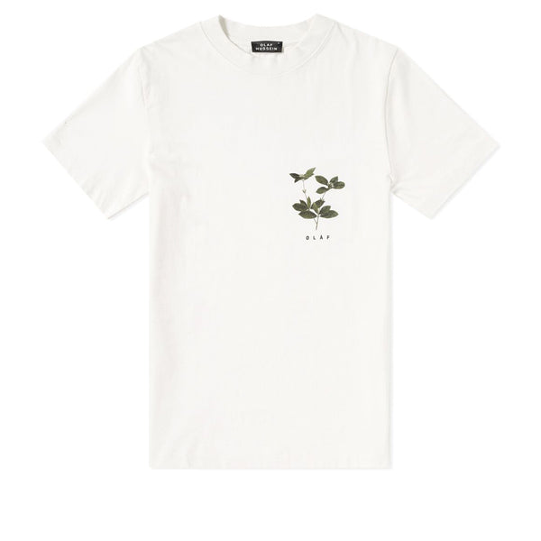 OLAF HUSSEIN Coffee Plant T-Shirt White
