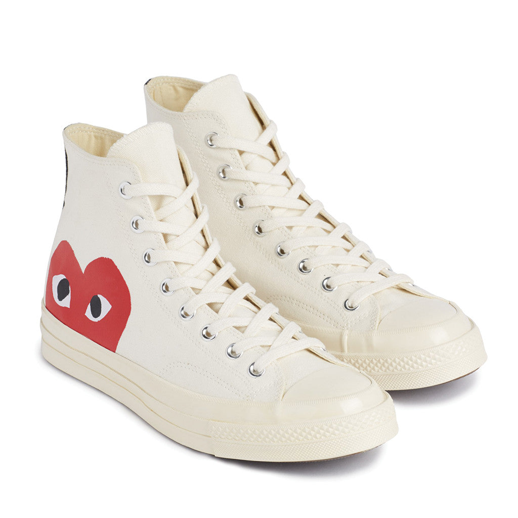 COMME Des GARCONS PLAY X Converse Chuck Taylor All Star 70 High White Rotterdam Nederland
