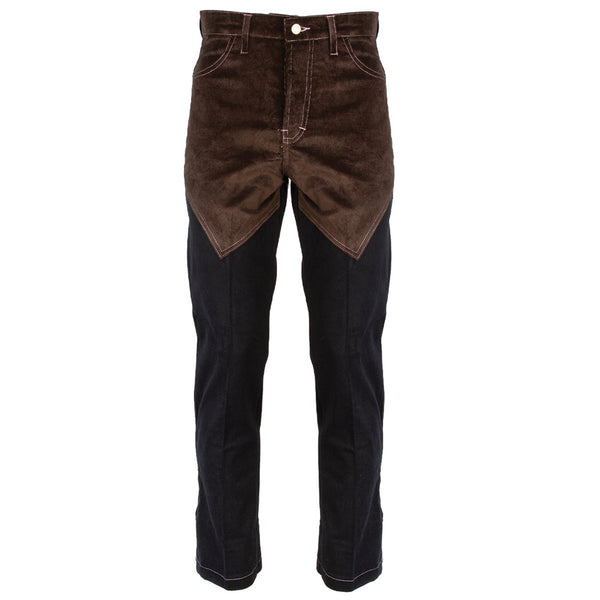 Youths in Balaclava Two-Tone Corduroy Pants YOU02P005