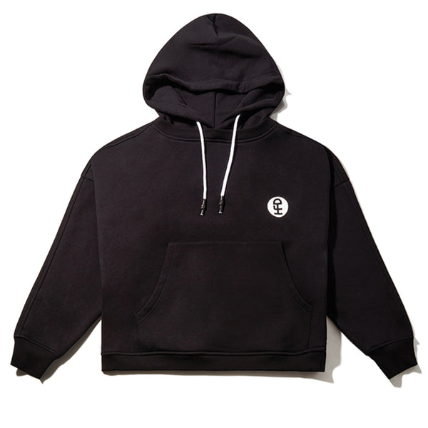 Honey Fucking Dijon Cropped Hooded Crewneck Black