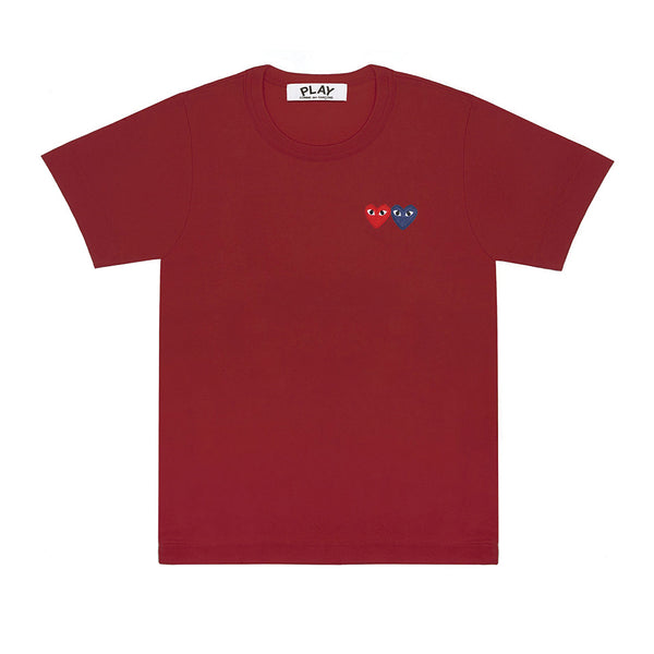 Double Heart T-Shirt Burgundy