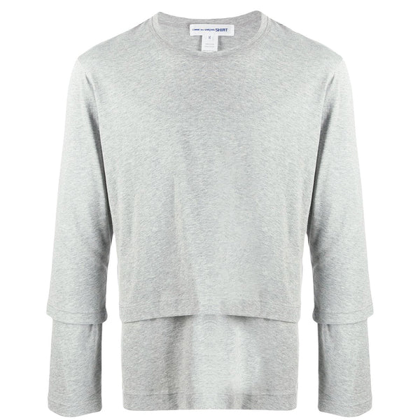 COMME des GARCONS SHIRT Double Layered T-Shirt Grey W27109-1 SALE