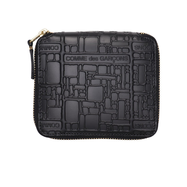 COMME des GARCONS WALLETS Embossed Logotype Black SA2100EL