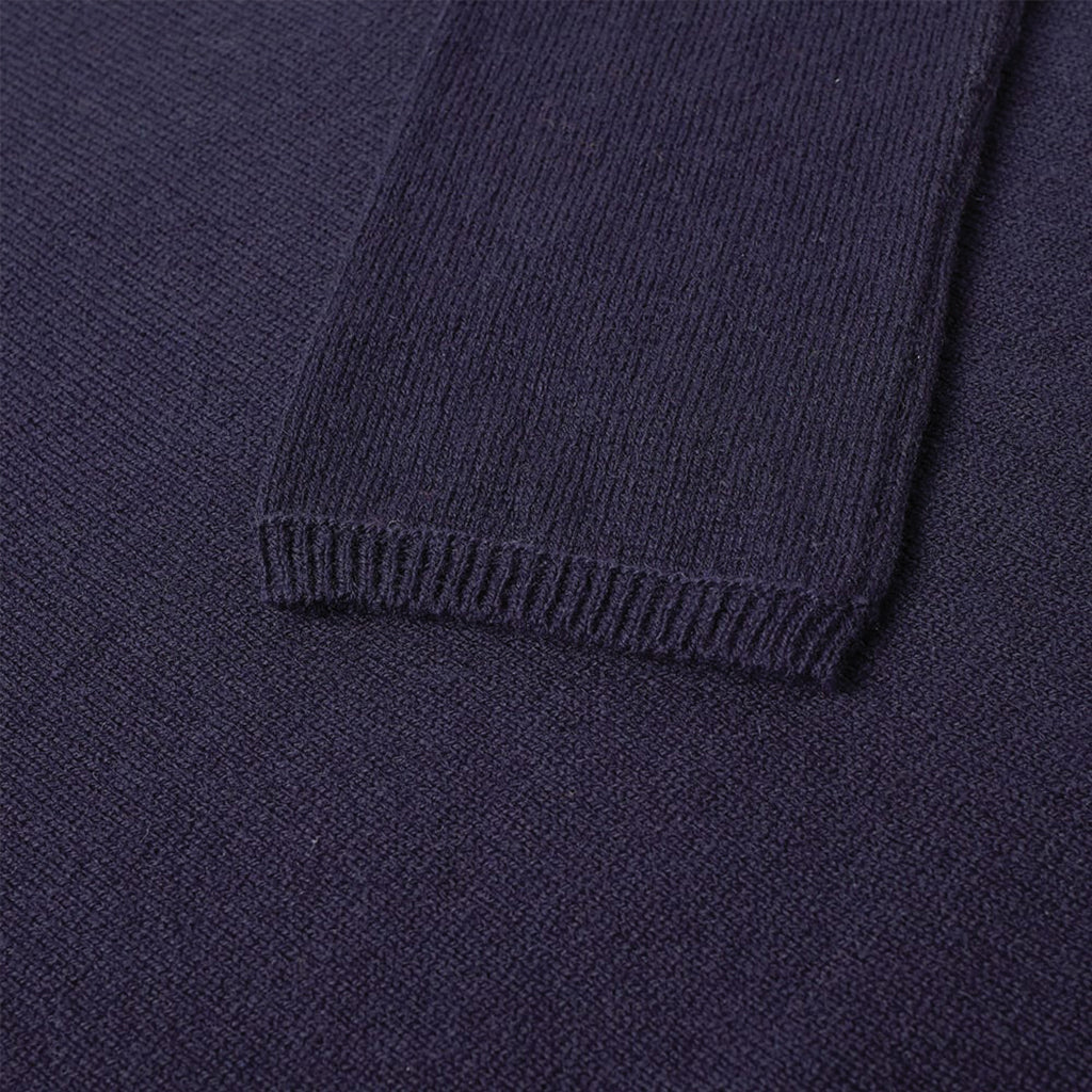 Fully Fashioned Knit Gauge 7 Navy