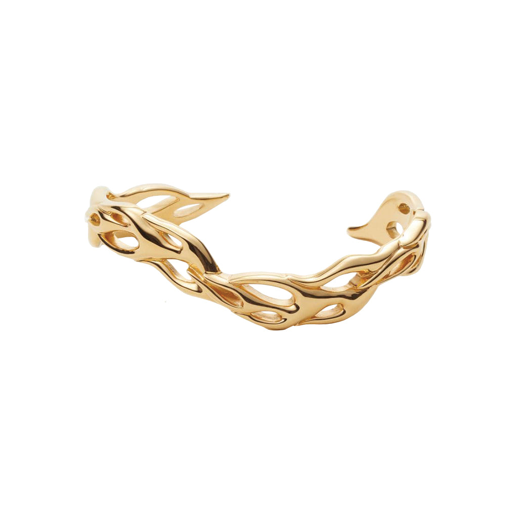 Flame Bangle Gold