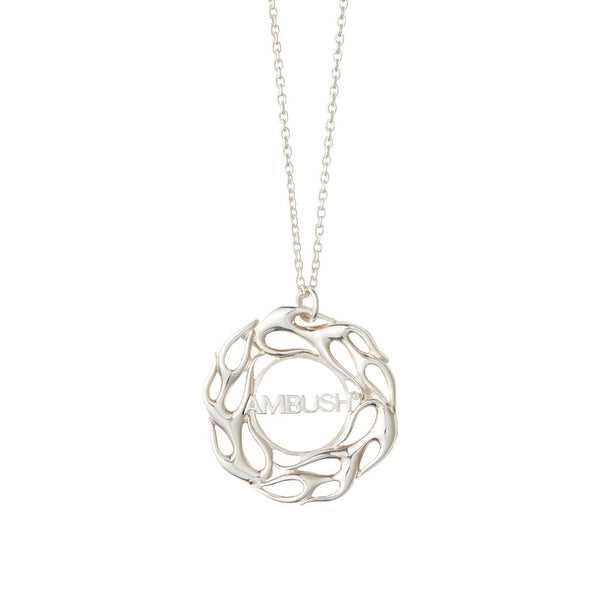 AMBUSH Jewellery Flame Necklace 1 Silver