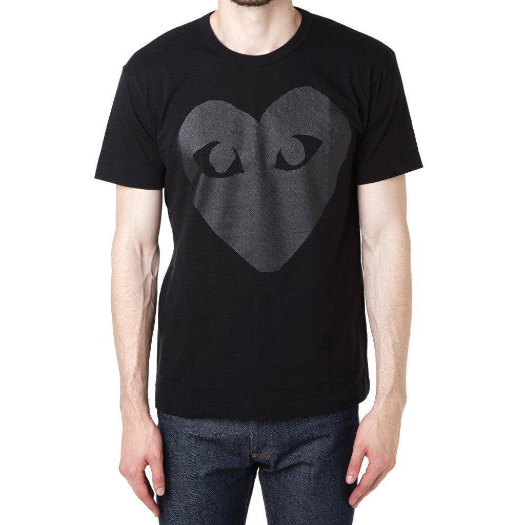 COMME des GARCONS PLAY Black Heart T-Shirt Black