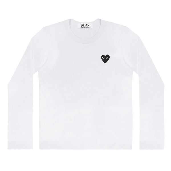 COMME des GARCONS PLAY Black Heart Longsleeve White