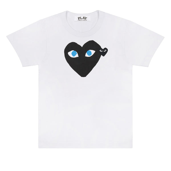 COMME des GARCONS PLAY Black Heart Blue Eyes T-Shirt