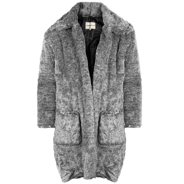 Youths in Balaclava Faux Fur Coat YOU02J002