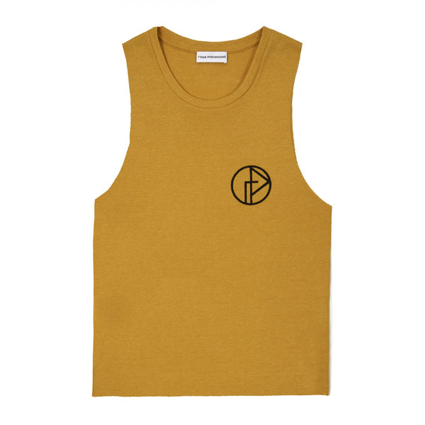 GOSHA RUBCHINSKIY Logo Thank Top Yellow