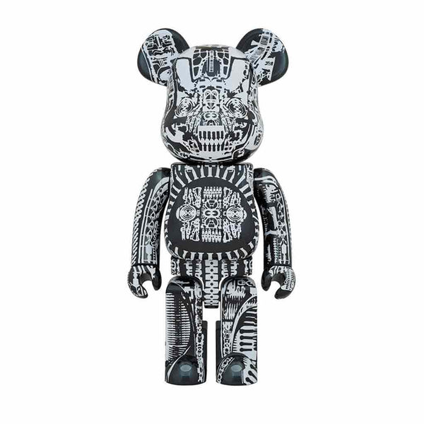 Medicom Toy BE@RBRICK H.R. Giger Chrome Ver. 1000% Black