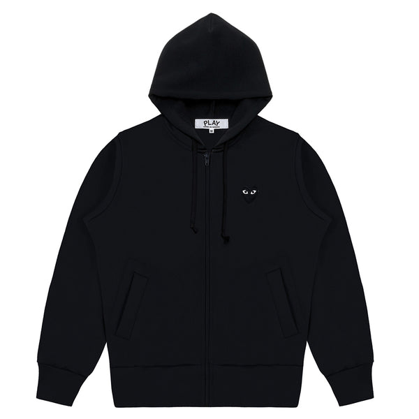 COMME des GARCONS PLAY Hooded Sweatshirt With Big Hearts Black