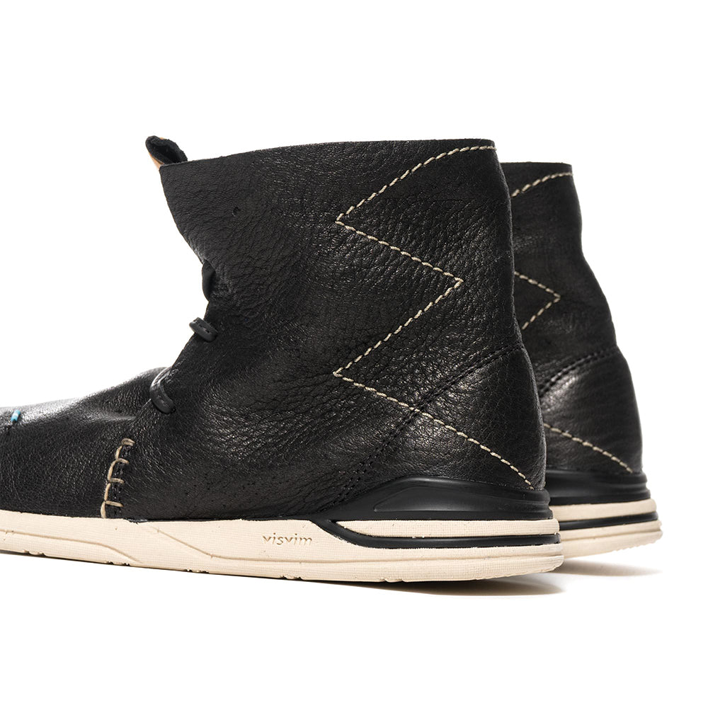 visvim Huron Moc Hi-Folk Black (Red Deer)