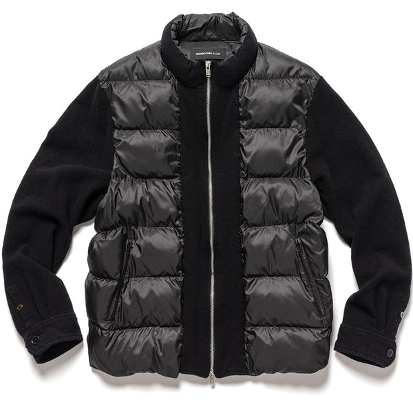 UNDERCOVER Jun Takahashi Hybrid Wool / Down Jacket Black UCZ4212