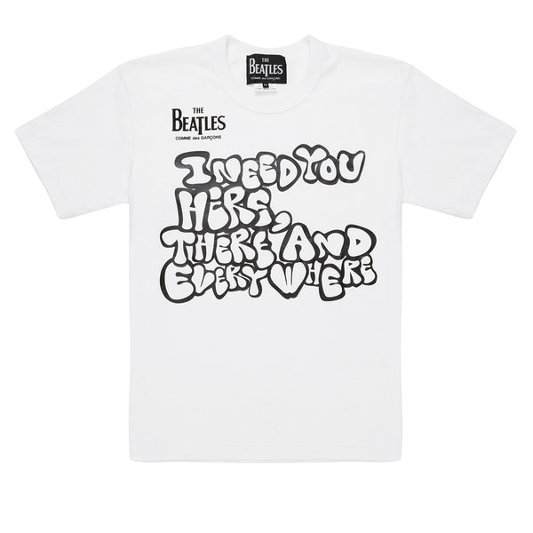 The Beatles COMME des GARCONS Graphic I Need You T-Shirt