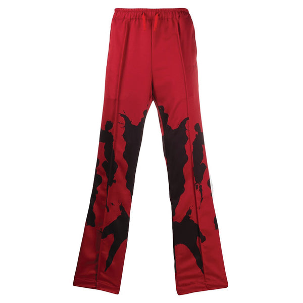Ink Blot Track Pants Red