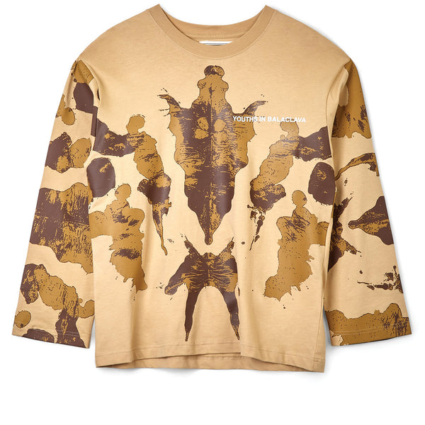 Youths in Balaclava Inkblot Longsleeve Brown