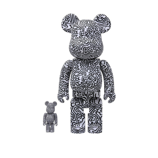 Medicom Toy BE@RBRICK x Keith Haring #4 400% 100% set