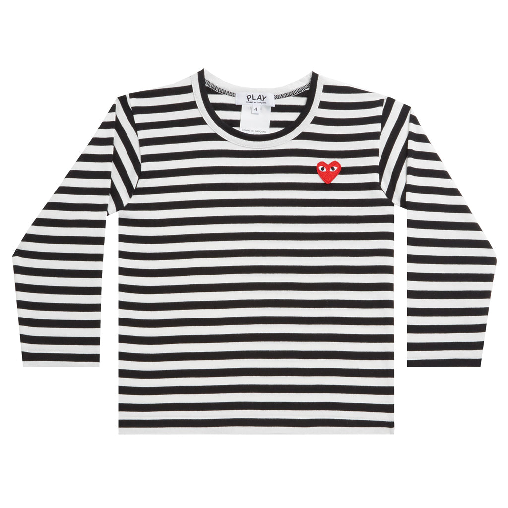7037a85b COMME des GARCONS PLAY · Kids Striped Longsleeve Black ...