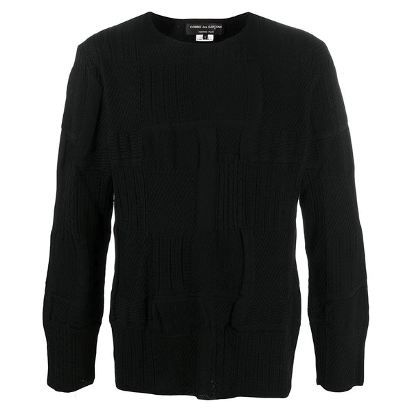 COMME des GARCONS Homme Plus Worsted Yarn Wool Pattern Knitted Jumper PF-N032-051