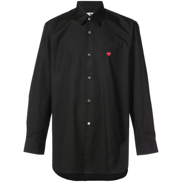 COMME des GARCONS PLAY Little Red Heart Shirt Black